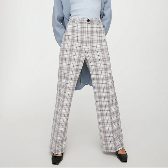 Aritzia Wilfred Francesca Check Pant in Size 2